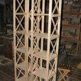 Стеллаж сосновый 6 полок узкий высокий