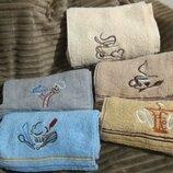 Кухонные полотенца кофе махровые