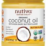 Nutiva Органическое кокосовое масло с ароматом сливочного масла 414 мл Organic Coconut Oil Buttery
