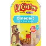 L'il Critters Детские мармеладные конфеты с омегой 3 120 шт Omega-3 Raspberry-Lemonade Flavors 120 G