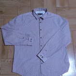 Рубашка мужская цветная в мелкий рисунок Cорочка чоловіча в дрібний малюнок Marks Spencer