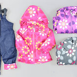 Лыжная термо куртка и лыжный термо комбинезон для девочек Венгрия Размеры 1,2,2,3,4,5 лет