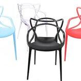 пластиковые стулья из полипропилена стул Мастерс черный белый