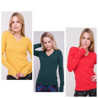 Акция Джемпер, свитер Милано,milano c v-образным вырезом 11 цветов//отправка сразу