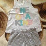 Летняя пижама для девочки фирмы H&M р. 4-6 110-116 см