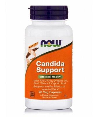 Now Foods, Candida Support. Здоровая микрофлора, от молочницы, от кандиды, 90 капсул