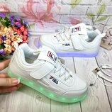 Мегакрутые светящиеся Led-кроссовки р. 32, 34USB 11 режимов,7 цветов