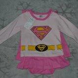 Новое платье боди Supergirl рост 92 Англия