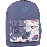 Рюкзак городской Bagland Молодежный 17 л. с принтом цветы мужской женский детский для девочки