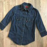 Рубашка джинсовая, левис, 10-12 л, для девочки, сорочка джинсова, для дівчинки