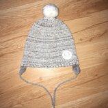 Демисезонная шапочка для девочки 1,5-2 года