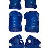 Комплект защиты Sports Helmet 3 в 1 размер S-M синий С34590