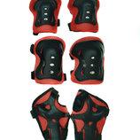 Комплект защиты Sports Helmet 3 в 1 размер S-M красный С34590