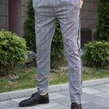 Мужские брюки Elegance серые клетка