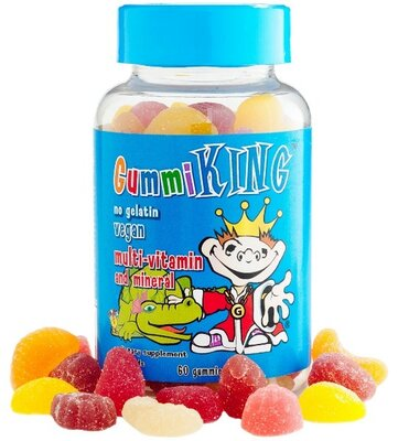 Gummi King Мультивитамины и минералы для детей 60 жевательных конфет Multi-Vitamin and Mineral Veget