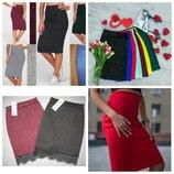 Распродажа Трикотажная юбка Разные цвета.Размеры от 40 до 58