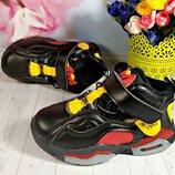 Деми ботинки р-р 26-30 черные с красным фирма paliament