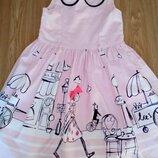 Красивое летнее платье на 5-6лет