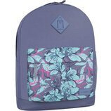 Рюкзак городской Bagland Молодежный 17 л. с принтом цветы женский детский для девочки