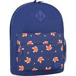 Рюкзак городской Bagland Молодежный 17 л. с принтом лисы лисички лисята женский детский для девочки