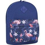 Рюкзак городской Bagland Молодежный 17 л. с принтом фламинго женский детский для девочки