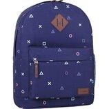 Качественный городской рюкзак Bagland 17 л принт мужской женский для девочек детский