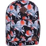 Качественный городской рюкзак Bagland 17 л принт птицы снегири женский для девочек детский
