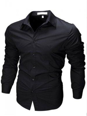 Продано: Рубашка мужская с длинными рукавами приталенного кроя SLIM FIT