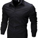 Рубашка мужская с длинными рукавами приталенного кроя SLIM FIT