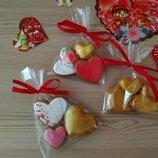 Пряники имбирно медовые на 14 февраля день влюблённых