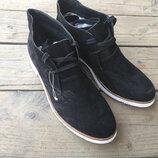 Туфли на белой подошве ботинки кожа noiz