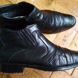 Кожаные ботинки kantsedal, черевики шкіряні, туфли, зимние ботинки