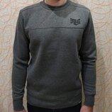 Теплый мужской свитер свитшот с флисовым начесом еверласт Everlast оригинал