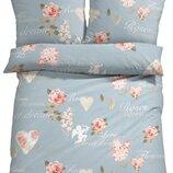 Постельное белье , Комплект постельного белья,100% хлопок, Германия, узор купидон,роза,сердце,