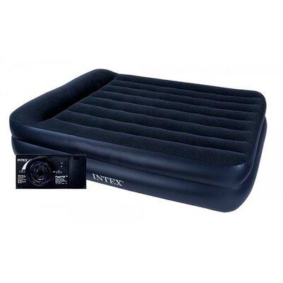 Надувная велюр-кровать Intex с электронасосом 99 х 191 х 42 см 64122