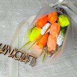 Тюльпаны Ручной букет тюльпанов Мыльный букет