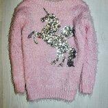 Джемпер травка свитер единорог пони одежда для девочки
