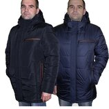 Зимняя мужская куртка отличного качества 48-62 размеры sku-10 синий и черный
