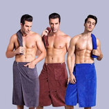 Полотенце-Килт для мужчин на резинке микрофибра , 150х65см, лот 1шт. Турция. Отличного качества