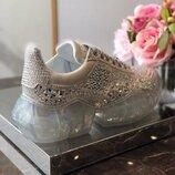 Самая Модная Модель Года Стиль Jimmy Choo Кроссовки Золото Камни Для Самой Модной