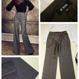 Серые брюки широкого кроя ostin xs-s