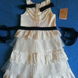 Нарядные платья с бусиками Тм Моне 98см