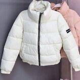 куртка женская короткая с высоким воротником