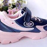 кроссовки на девочку синие р-р 32-37