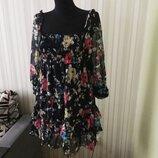 Платье цветы Изумительное Шифоновое турция