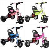 Велосипед детский трехколесный TURBOTRIKE M 3650-M EVA колёса, мяг. сидение, свет/музыка