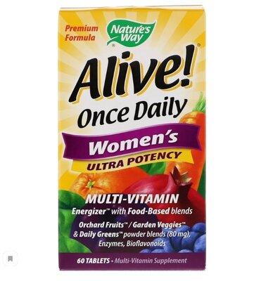Alive. Один раз в день Для женщин Суперсила Мультивитамины, 60 шт.