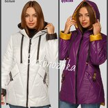 48-62, Демисезонная куртка женская. с капюшоном, куртка деми большого размера. Жіноча куртка
