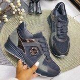 Кожаные кроссовки Рр