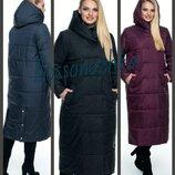 46-56, Демисезонное пальто плащ. Женское длинное пальто деми. Жіноче довге пальто весна осінь демі